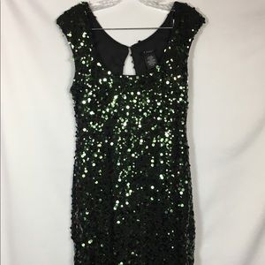 B. Smart Green Sequin Party Dress Cocktail